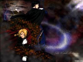 Ed and Roy WP by sylphkeeper