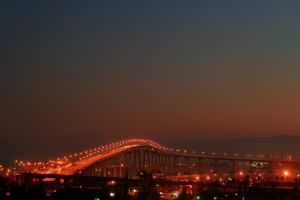 Coronado Bridge Dusk by robert-kim-karen