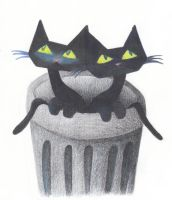 Two Cats in a Can by WottaGal0505