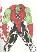 Red Lantern Hulk by Chaosbandit