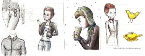 Glee sketches 2 by HorizontalProjection
