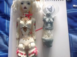 April '15 Angel egg and WIP bjd by Magpie-Jade
