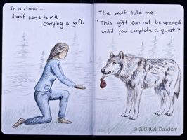 Wolf Daughter Sketchbook 2013 Page 10-11 by Wolf-Daughter