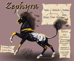 Zephyra the Dark Unicorn by FlareAndIcicle