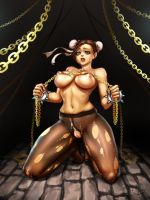 Chun Li Chained by Eromangaka