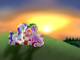 COMMISSION: Loves Sunset by EmilieArts
