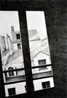 Through my Paris window, 2011, 50-70, crayon by oanaunciuleanu