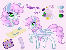 Wisteria Wisp Reference Sheet Commission by CandyCollie