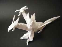 Dragon tricabeza - Origami by RyuuCid