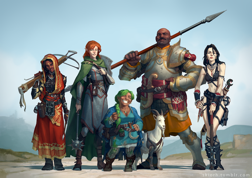 Pathfinder RPG party commission by Skiorh