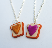 Peanut Butter and Jelly Hearts by ClayRunway
