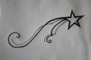 Shooting Star Tattoo Design by VivaFleur