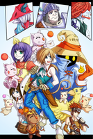 FF9 Poster Coloured by H0lyhandgrenade