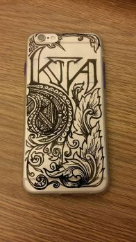 doodle on iphone cover by ameteratsu