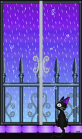 Cat and Rain by Teadrops-InTheRain