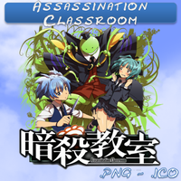 Assassination Classroom ICO,PNG & Folder by bryan1213