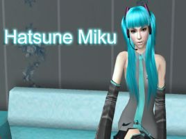 Vocaloid-Hatsune Miku in Sims by NegativeDanna