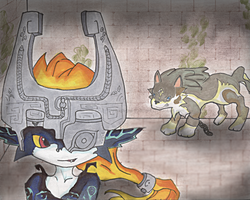 Meeting Midna by Through-the-Midnight