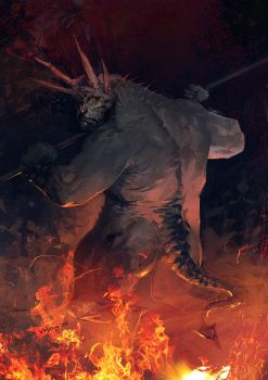 Burned devil meat by velinov