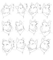 Faces - Lineart by timmylois2
