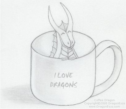 Coffee Dragon by DragonEyzs