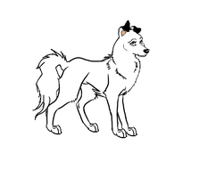 Dog or Wolf lineart by J-Dove