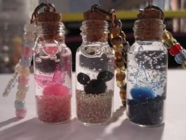 Kawaii Bottle Charms by RoughReaill