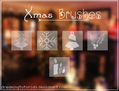 Xmas Brushes by DreamingTutorials