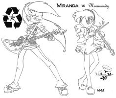 Miranda vs. Minimandy-Showdown by Inked-Alpha