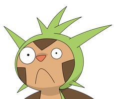 Chespin discovers the internet by kol98