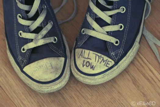All Time Low shoes. by xEllie8D