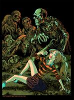 Zombies Attack Cheerleader by BryanBaugh