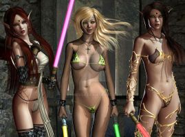 Jenny Poussiny Lightsaber Evinessa Elf Trio 05 by Evinessa