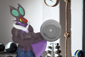 Working out Noivern by D12-iZoroark
