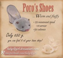 Poro's shoes by HolyElfGirl