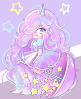 Sweet Fluffy chibu commission for Teaunicorn by SparksTea