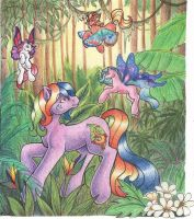 Rainforest Gecko Pony for Ali by aubergine
