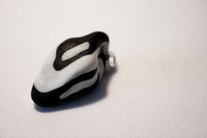 OOAK Black and White Pendant by IskaDesign
