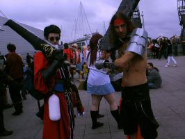 Jecht and Auron with Swords by leumas11