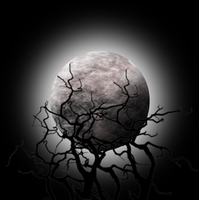 Moon with spooky tree silhouette by Viktoria-Lyn