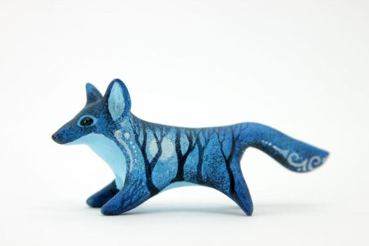 Night Forest Fox by hontor