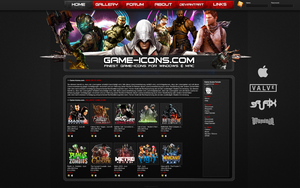 Game-Icons Site CONCEPT by Crussong