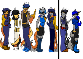 Cooper-Fox family by slycooper11