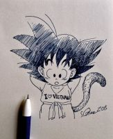 Kid goku sketch by songiang