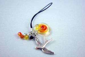 Katniss Everdeen Inspired Cell Phone Charm by michelleaudette