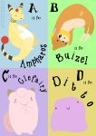 Poke-alphabet - A to D by ditto9