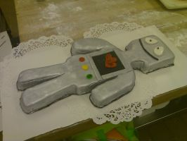 Robot Cake III by AlyceThePirate