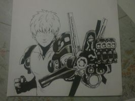 One Punch Man-Genos by Knigthpaint