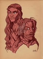 Cersei and Jaime Lannister by stayte-of-the-art