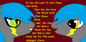 Smile At Your Flaws by WildFox-Jade
